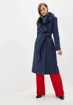 Пальто, Giulia Rosetti, цвет: синий. Артикул: MP002XW1BX9G. Одежда / Верхняя одежда / Пальто / Зимние пальто