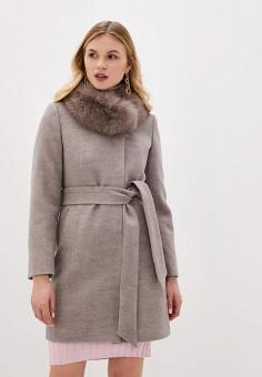 Пальто, Giulia Rosetti, цвет: бежевый. Артикул: MP002XW1BX9Q. Одежда / Верхняя одежда / Пальто / Зимние пальто