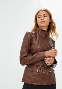 Куртка кожаная, La Reine Blanche, цвет: коричневый. Артикул: MP002XW1CROF.