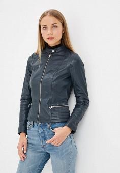 Куртка кожаная, La Reine Blanche, цвет: синий. Артикул: MP002XW1CTN0.