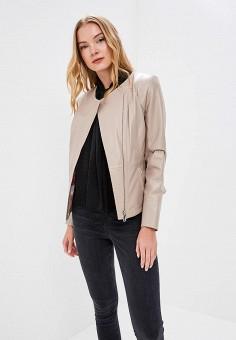 Куртка кожаная, Grafinia, цвет: бежевый. Артикул: MP002XW1F7TI.