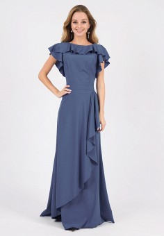 aaab1a18e1d97e9 Платье, Marichuell, цвет: синий. Артикул: MP002XW1HC9Q. Одежда / Одежда  больших