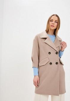 Пальто, Zarina, цвет: бежевый. Артикул: MP002XW1I4N8. Одежда / Верхняя одежда / Пальто
