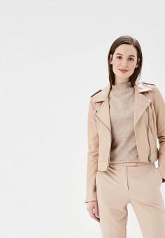 Куртка кожаная, La Reine Blanche, цвет: розовый. Артикул: MP002XW1I8WW. Одежда / Верхняя одежда / Кожаные куртки