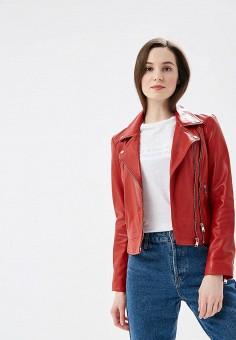 Куртка кожаная, La Reine Blanche, цвет: красный. Артикул: MP002XW1IF8Z. Одежда / Верхняя одежда / Кожаные куртки