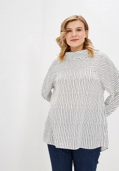 Блуза, Авантюра Plus Size Fashion, цвет: белый. Артикул: MP002XW1IGT4. Авантюра Plus Size Fashion