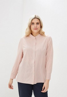 Блуза, Авантюра Plus Size Fashion, цвет: коралловый. Артикул: MP002XW1IQZI. Авантюра Plus Size Fashion