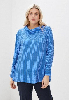 Блуза, Авантюра Plus Size Fashion, цвет: синий. Артикул: MP002XW1IQZJ. Авантюра Plus Size Fashion