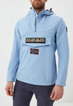 75fa256b7394 Ветровка, Napapijri, цвет: голубой. Артикул: NA154EMDZLS5. Одежда / Верхняя  одежда