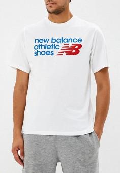 Футболка, New Balance, цвет  белый. Артикул  NE007EMBPXI6. New Balance 23f8846ddaa