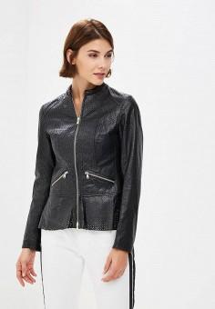 Куртка кожаная, Ne.Ra Collezioni, цвет: черный. Артикул: NE023EWCMKQ2.