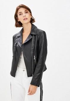 Куртка кожаная, Ne.Ra Collezioni, цвет: черный. Артикул: NE023EWCMKQ3.