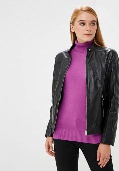 Куртка кожаная, Ne.Ra Collezioni, цвет: черный. Артикул: NE023EWCMKQ4.