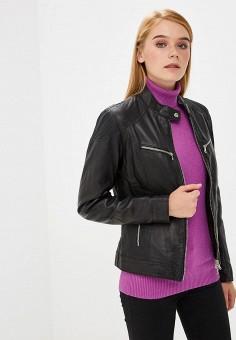 Куртка кожаная, Ne.Ra Collezioni, цвет: черный. Артикул: NE023EWCMKQ5.