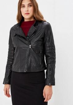 Куртка кожаная, Ne.Ra Collezioni, цвет: черный. Артикул: NE023EWCMKR1.