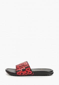 630b27d0 Сланцы, Nike, цвет: красный. Артикул: NI464AMETLR7. Обувь / Резиновая обувь