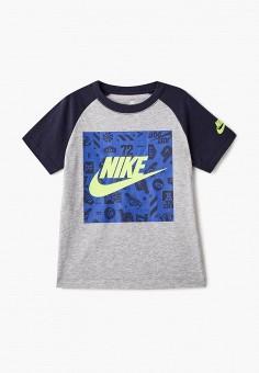 Футболка, Nike, цвет  серый. Артикул  NI464EBAQCR1. Мальчикам   Спорт   e3d313f8447