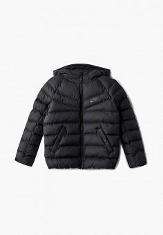 Куртка утепленная, Nike, цвет  черный. Артикул  NI464EBBYMY8. Мальчикам    Одежда 09a6c0ad6c7