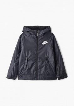 Куртка, Nike, цвет  черный. Артикул  NI464EBCLSQ4. Мальчикам   Одежда 5912319cacf