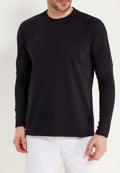 Лонгслив спортивный, Nike, цвет  черный. Артикул  NI464EMAACW0. Одежда    Футболки. футбол 938d5051936
