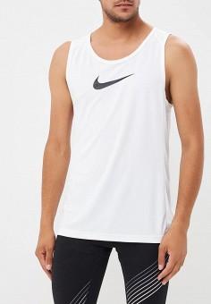 17bbe18d Майка спортивная, Nike, цвет: белый. Артикул: NI464EMBWIM8. Одежда / Майки