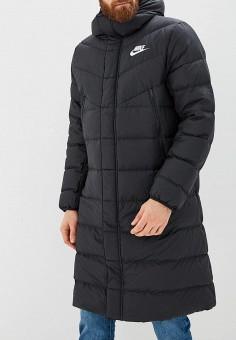Пуховик, Nike, цвет  черный. Артикул  NI464EMCMJR3. Одежда   Верхняя одежда bb1319ba41f