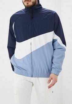 444384ba Ветровка, Nike, цвет: синий. Артикул: NI464EMDNDD1. Одежда / Верхняя одежда