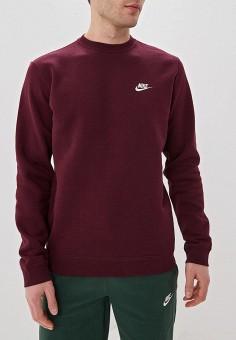 4960d40e Свитшот, Nike, цвет: бордовый. Артикул: NI464EMDNDN2. Одежда / Толстовки и