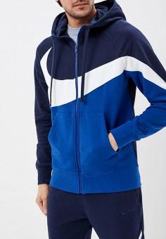 f3fa4333 Толстовка, Nike, цвет: синий. Артикул: NI464EMDNEK3. Одежда / Толстовки и