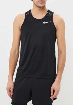1b0bd0e2 Майка спортивная, Nike, цвет: черный. Артикул: NI464EMDNFR9. Одежда / Майки