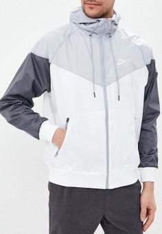22ebdbe4 Ветровка, Nike, цвет: белый. Артикул: NI464EMETPN7. Одежда / Верхняя одежда