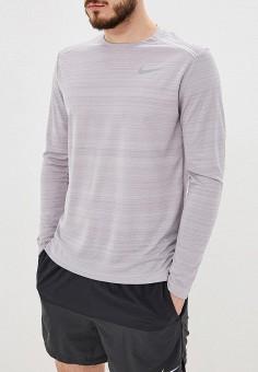 e4b39005 Лонгслив спортивный, Nike, цвет: серый. Артикул: NI464EMETPZ7. Спорт / Бег