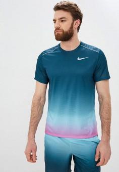 04404190 Футболка спортивная, Nike, цвет: бирюзовый. Артикул: NI464EMETQJ2. Спорт /  Бег