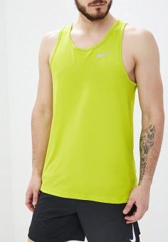 87ab4444 Майка спортивная, Nike, цвет: желтый. Артикул: NI464EMETQP7. Одежда / Майки