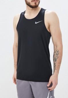 973067ca Майка спортивная, Nike, цвет: черный. Артикул: NI464EMETRA6. Одежда / Майки
