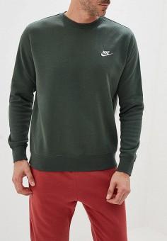 2ba466d5 Свитшот, Nike, цвет: зеленый. Артикул: NI464EMFLCE0. Одежда / Толстовки и