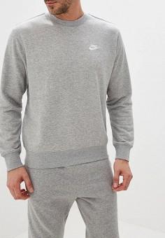 0d7d7837 Свитшот, Nike, цвет: серый. Артикул: NI464EMFLCE6. Спорт / Все спортивные