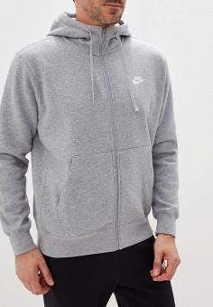 78a1e6ff Толстовка, Nike, цвет: серый. Артикул: NI464EMFLCG1. Спорт / Все спортивные