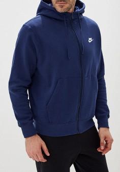 bbd04e90 Толстовка, Nike, цвет: синий. Артикул: NI464EMFLCG3. Одежда / Толстовки и
