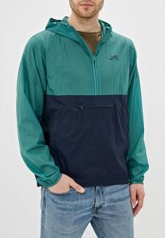 26e36282 Ветровка, Nike, цвет: зеленый. Артикул: NI464EMFNBM7. Одежда / Верхняя  одежда