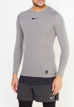 f497f88a Лонгслив компрессионный, Nike, цвет: серый. Артикул: NI464EMUGU42. Спорт /  Фитнес