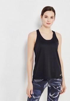 Майка спортивная, Nike, цвет  черный. Артикул  NI464EWAAEV5. Одежда   Топы 04ab04bcc52