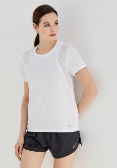1fd615cd6c662 Футболка спортивная, Nike, цвет: белый. Артикул: NI464EWAAEV9. Одежда /  Футболки