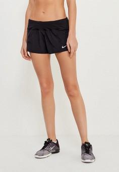 Шорты спортивные, Nike, цвет  черный. Артикул  NI464EWAAFD9. Одежда   Шорты.  бег dc6fbbd46d6