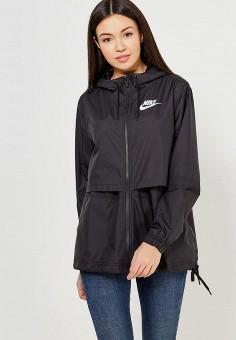4a6f6b0610ba Ветровка, Nike, цвет  черный. Артикул  NI464EWAAGZ4. Одежда   Верхняя одежда