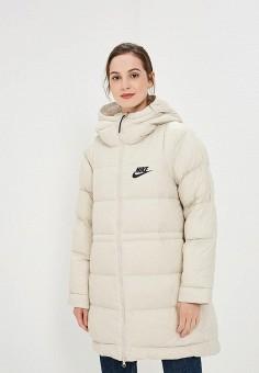 Пуховик, Nike, цвет  бежевый. Артикул  NI464EWBWJZ1. Одежда   Верхняя одежда d0a172fc764