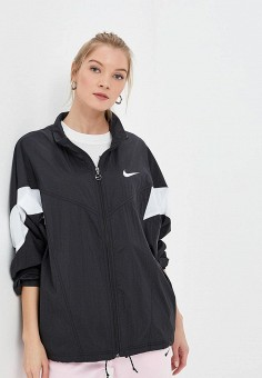 53d4d116 Ветровка, Nike, цвет: черный. Артикул: NI464EWDNMC7. Одежда / Верхняя одежда