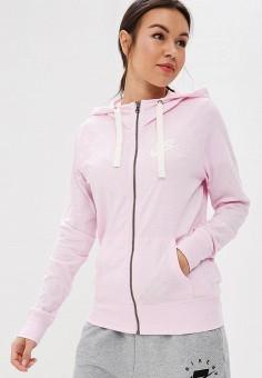 251c3ee4 Толстовка, Nike, цвет: розовый. Артикул: NI464EWDNMN2. Одежда / Толстовки и