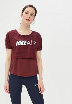 b98b30ba Футболка спортивная, Nike, цвет: бордовый. Артикул: NI464EWDNNB4. Одежда /  Футболки