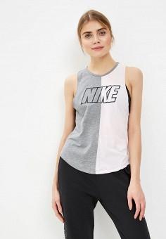Майка спортивная, Nike, цвет  серый. Артикул  NI464EWDNWZ1. Одежда   Топы 0a38b4576d3